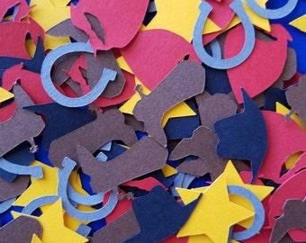 Handmade Western Cowboy Confetti