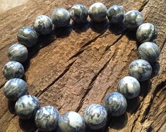 Scenery Jasper Healing Gemstone Bracelet Tranquility Masculine  10 mm beads