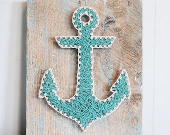 Anchor Driftwood String Art