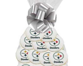 12pack NFL Pittsburgh Steelers Decorated Sugar Cookies