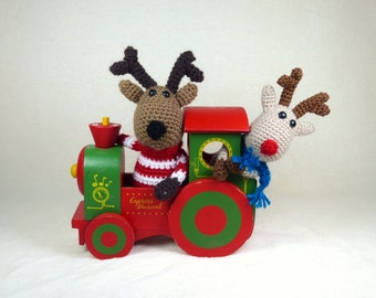 Crochet pattern : Rudolph & Dasher the reindeers