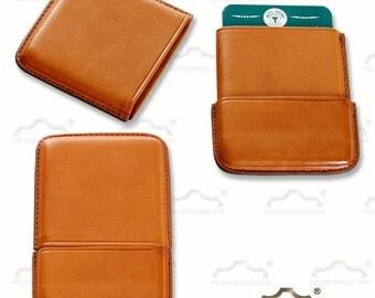 Havana Leather Card Holder, business card holder leather color habana