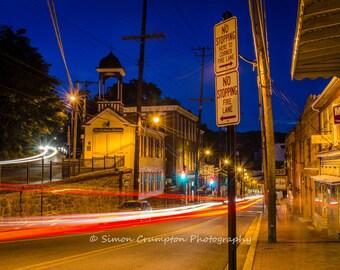 Ellicott City Firehouse and Main Street - Maryland - USA - Landscape - Fine Art Print