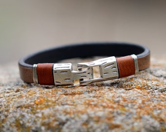 Mens bracelet,  leather bracelet, handmade, leather jewellery, unique jewelry, bracelet man, boho bracelet, yoga bracelet