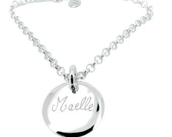 Custom bracelet chain and medal