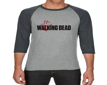 tri blend walking dead baseball top
