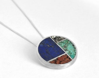 Inlay Lines Necklace