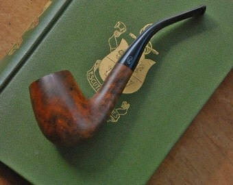 FREE SHIPPING!! - Vintage Briar Wood Tobacco Pipe - Sherlock Holmes Style Pipe w/Meerschaum Lining - Tobacciana  Collectible - Italian Pipe