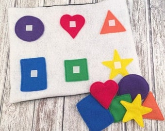 Color & Shapes Learning Mat, Educational, Montessori Toy, Preschool, PreK, Toddler, Baby, Homeschooling