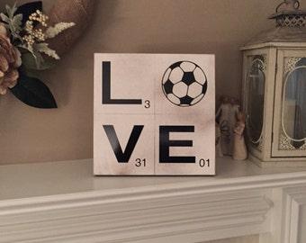 Scrabble Soccer Sign