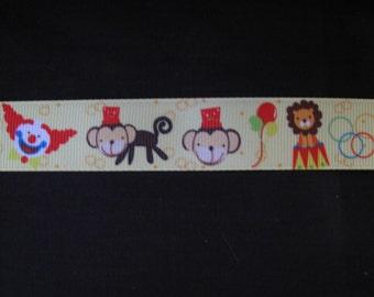 """circus grosgrain ribbon 7/8"""" per 1 metre scrapbooking card making craft hair"""