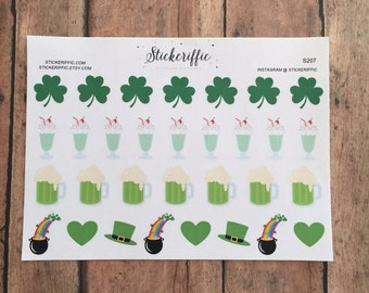 St Patrick's Day Stickers - Green Beer, Shamrock Shakes - S207