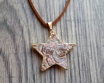 Chalcedony Star Necklace