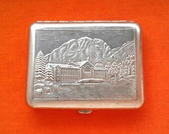 Vintage Soviet cigarette case / Holder from USSR - high mountain lake Ritsa, Abkhazia / Made in USSR, 1960s