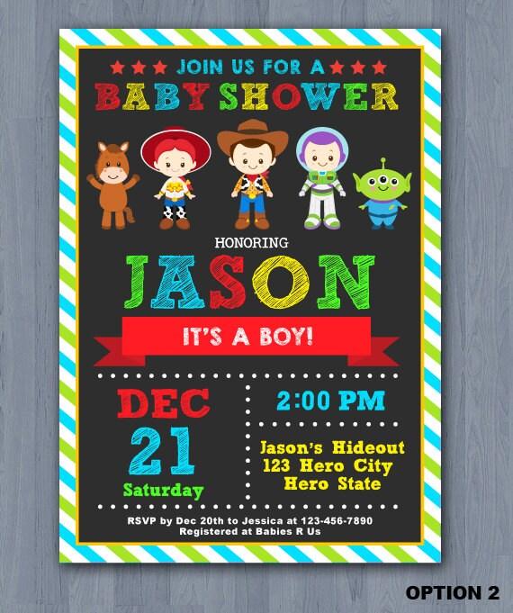 toy story baby shower invitation toy story baby invitation, Baby shower