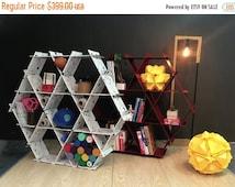 mommy and me furniture, Hexagon shelves, diy furniture, back to school, honeycomb shelves, mommy and me, cardboard furniture - metal shelves