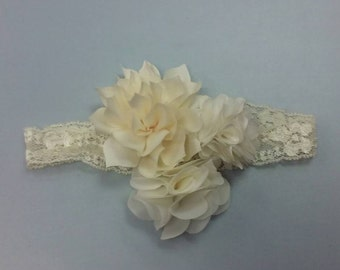 Made to order infant lace headband hair accessory photo prop