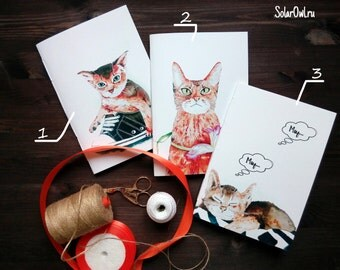 sketchbook Cats \notebook\journal\Journal Set\Pocket Journals, Mini Notebooks