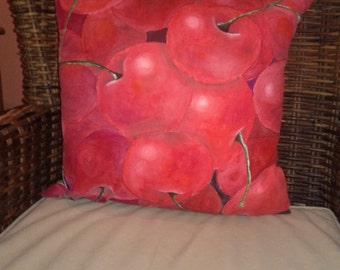 Cushion with a cherry flavour