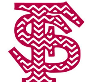 Chevron Florida State University FSU Vinyl Decal/Sticker