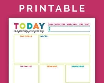 Daily Agenda - Printable PDF