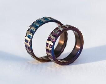 Deep & Purple Titanium ring.