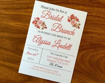 Bridal Brunch Bridal Shower Invitation