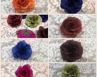 Silk Rose Heads -  50 Artificial Silk Roses - Free Shipping USA