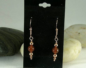 Carnelian and Copper Earrings - Egyptian