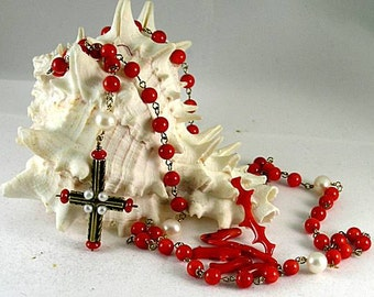Catherine of Cleves Cross on Standard Rosary - Psalter