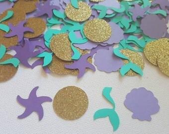 100 piece Mermaid Confetti, Mermaid Party, Under the Sea confetti, Girls Party, Table Confetti