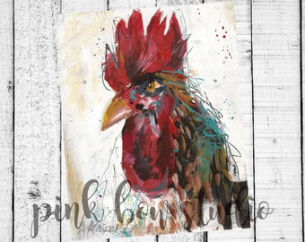 Chicken Print Fine Art Instant Download | King