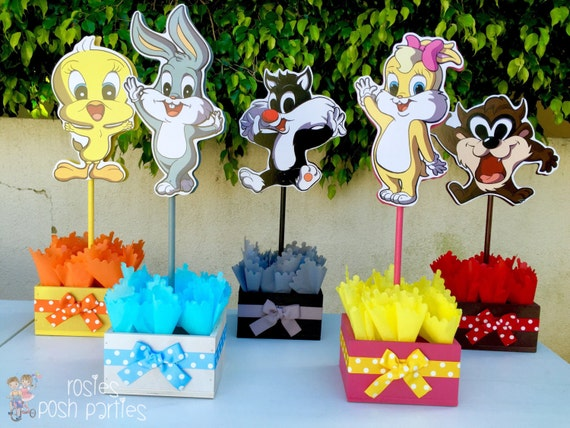 Baby looney tunes baby shower or 1st birthday inspired by baby for Baby looney tune decoration