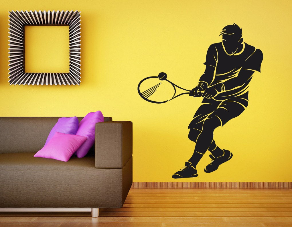 Tennis Player Wall Decal by RoomDecalsAndDesigns