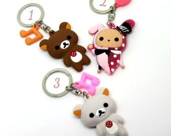 rilakkuma/ korilakkuma/ shappo: sentimental circus KEYCHAIN, San-X, San-x inspired, key chain, kawaii Keychain, cute, kawaii, phone charm