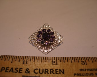 Purple Rhinestone Brooch(416)