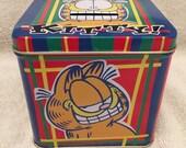 Vintage Garfield Tin Money Bank