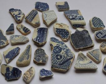 BULK - Welsh Sea Pottery, Willow Pattern 140g