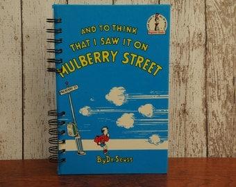 Dr. Seuss Mulberry Street- Altered Book/Junk Journal/Journal/Sketchbook