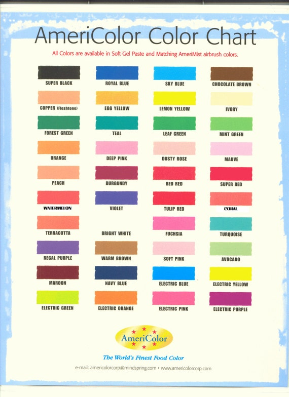 AmeriColor Soft Gel Paste 0.75 oz Food Color .75 ounces from ...