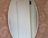 Bevelled Edge Oval Vintage Art Deco 1930-40s Mirror