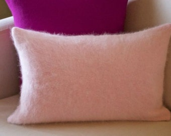Pink Cashmere Angora Pillow