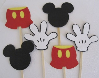 Mickey mouse cupcake topper and cupcake stand