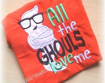 SALE Boy Halloween Shirt, Halloween Shirt for boy, Baby Boy Shirt, Infant Halloween, Ghost Shirt, Embroidered Shirt,