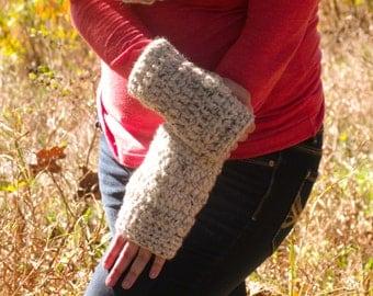 Crochet Adult Fingerless Gloves - Mid Forearm