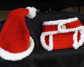 Santa Hat and Diaper cover