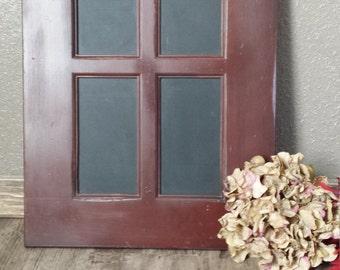 Wooden handmade Rustic red window chalkboard sign