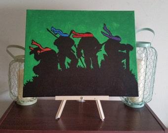 "TMNT ""The Squad"" - Custom Handpainted Acrylic Canvas"