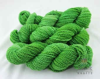Zelena inspired, hand dyed chunky weight thick and thin yarn 140 yards