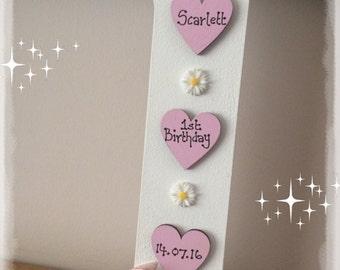First Birthday gift 1st birthday freestanding number Personalised Keepsake , birthday gift , special birthday